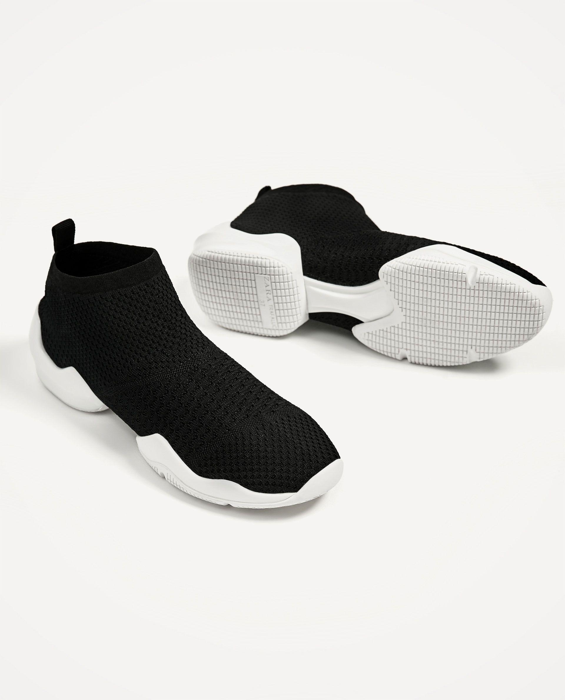 Sock Sneakers Zara Socks Sneakers Zara Sneakers Sneaker Outfits Women