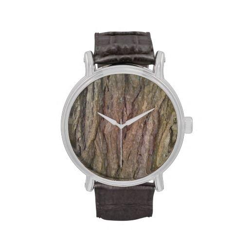 Hemlock Bark Wrist Watches!  #zazzle #customizable #watch  http://www.zazzle.com/dww25921*