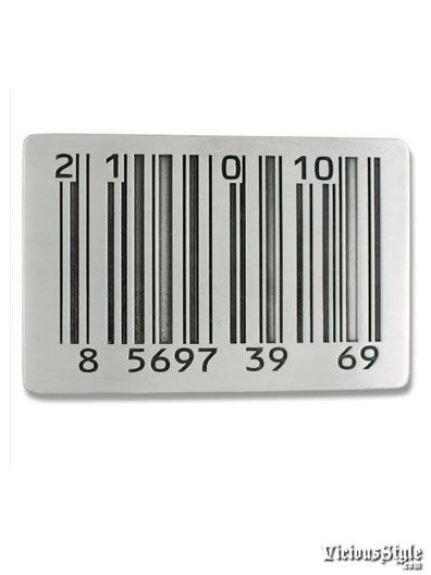 Barcode Belt Buckle