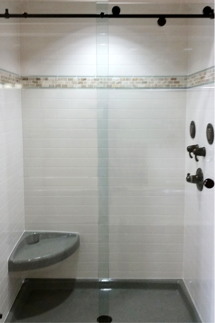3 Steps to Add Trim and Borders to DIY Shower Wall Panels | Shower ...