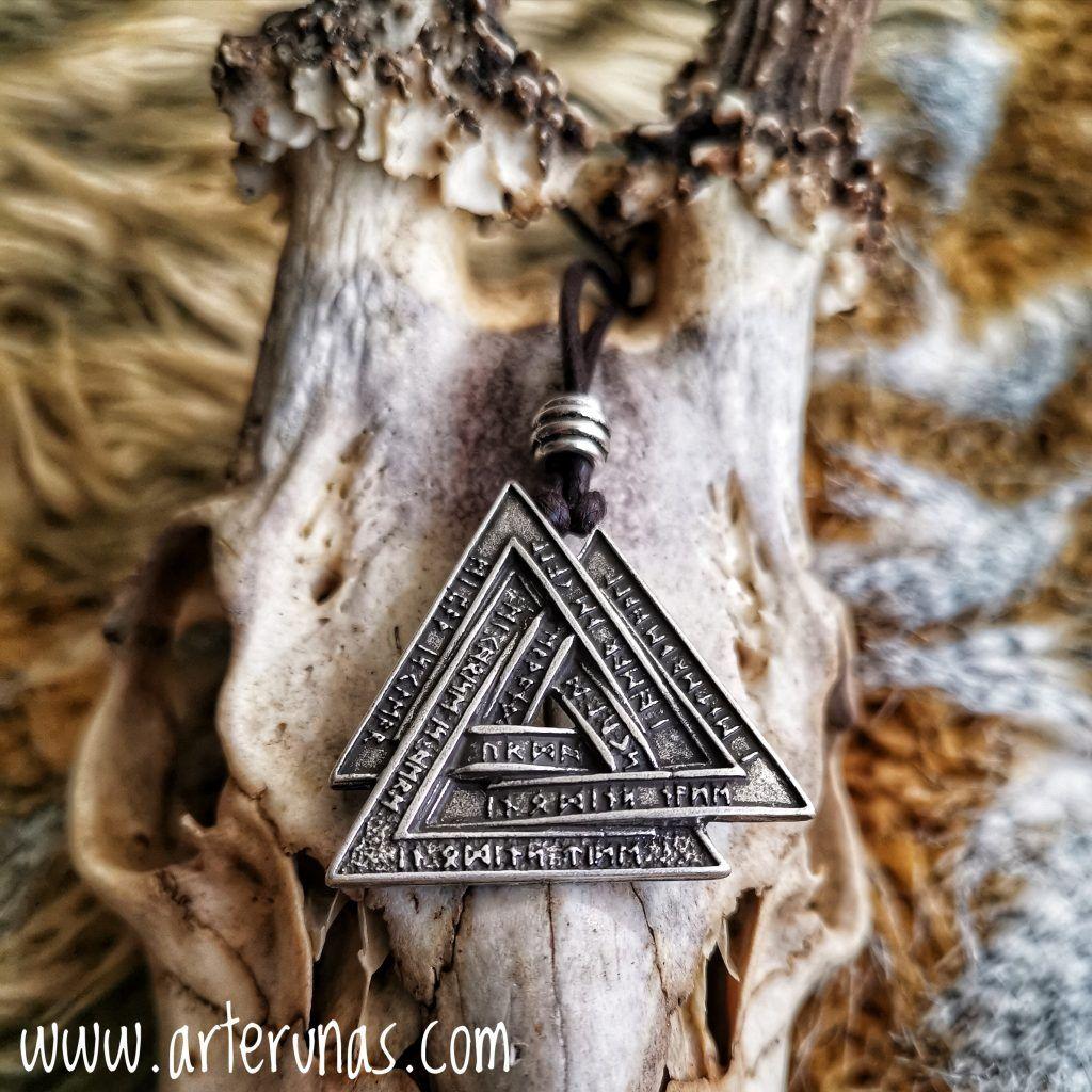 Anillo Vikingo Thor/'s Martillo Vikingo Bronce Bañado En Plata De Arte Joyería Norse
