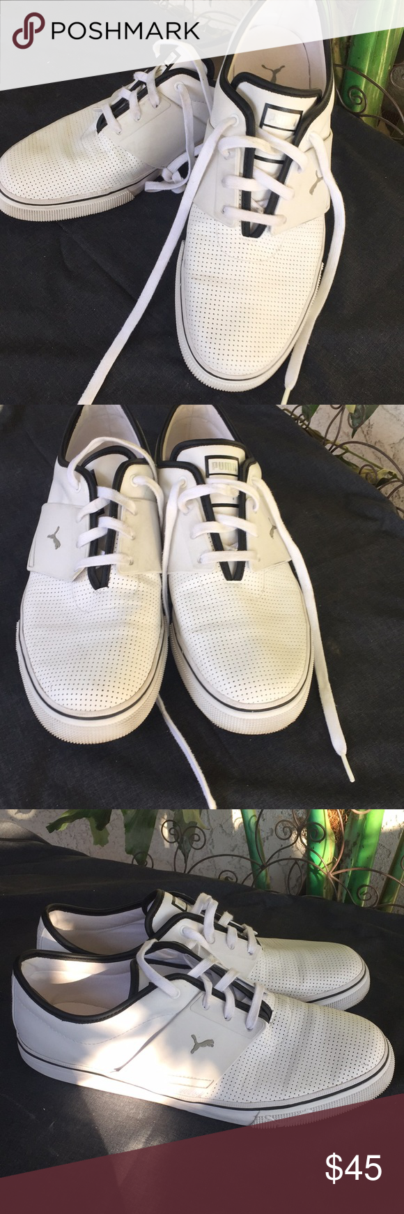 30ac7d8207e PUMA size 12 white   black trim Men s In great condition size 12 Puma Shoes  Athletic