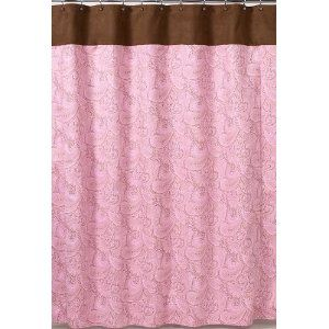 Pink And Brown Shower Curtain