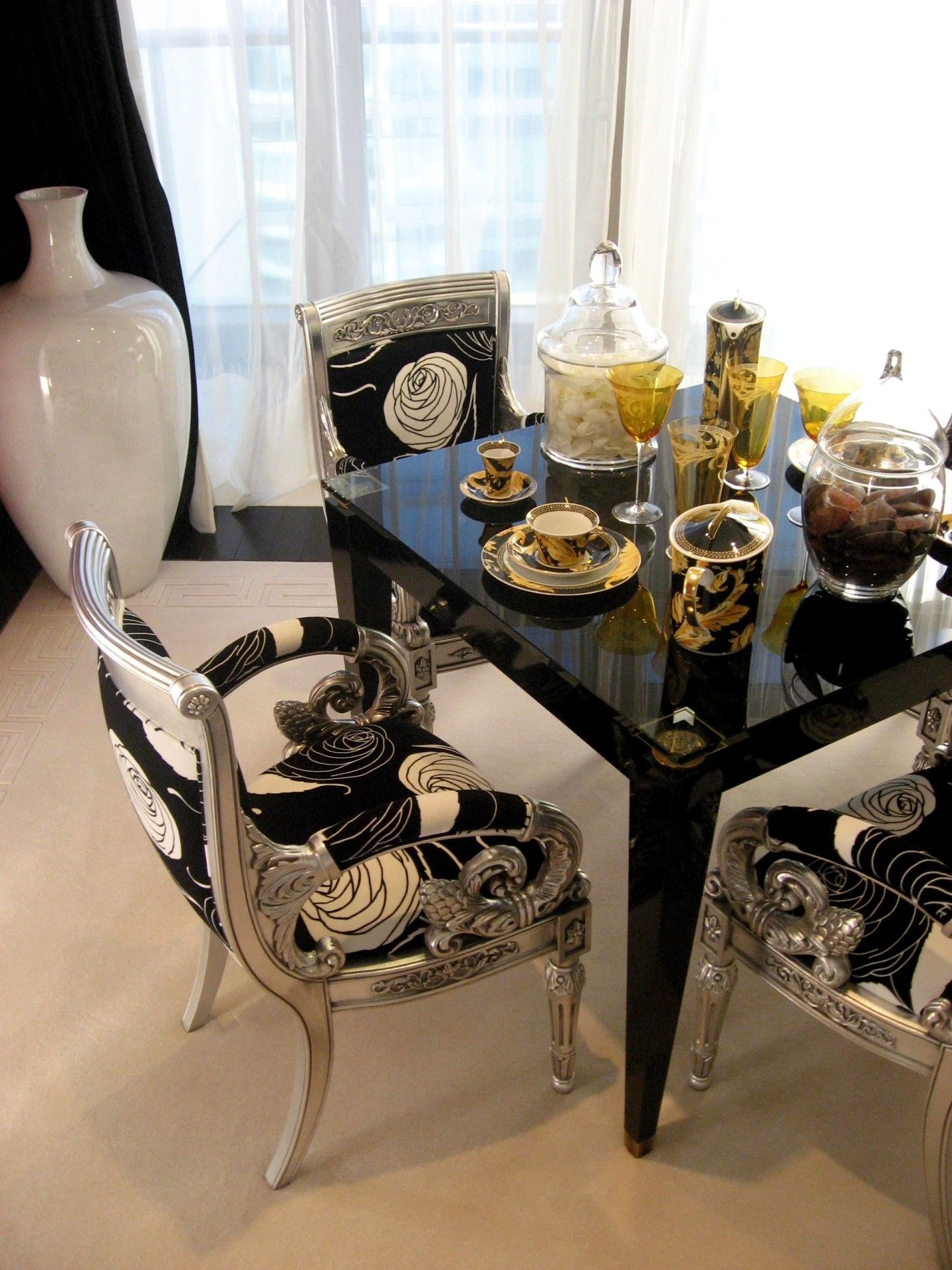 VERSACE HOME  Beautiful dining room decor, Versace furniture