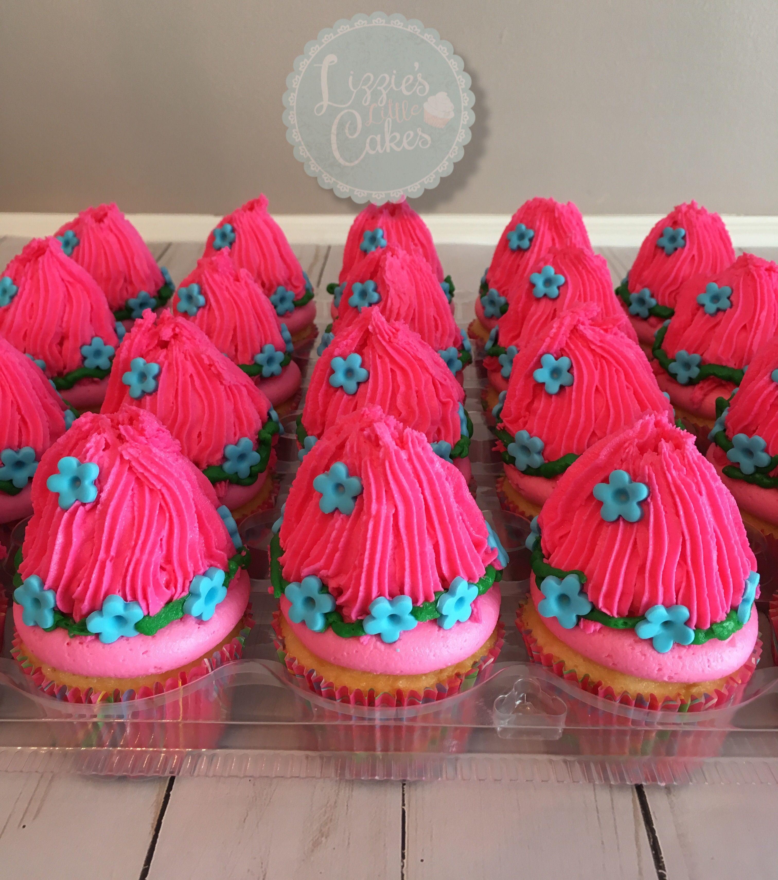 Princess Poppy Cupcakes
