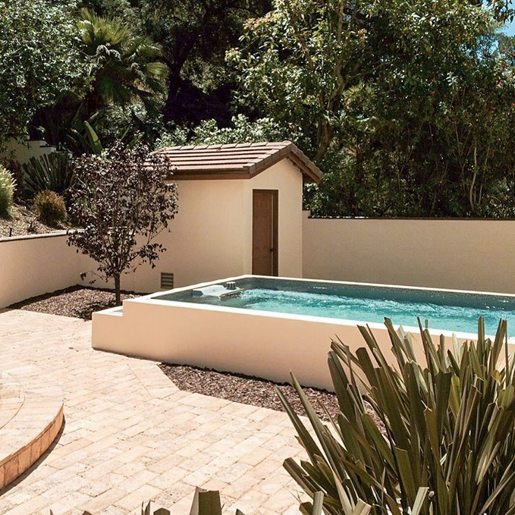 """Who says it has to be a """"dry"""" heat in the southwest? The Endless Pool® turns this backyard into an oasis! The fully adjustable Endless Pools current lets you swim in place, relax, and exercise, all in one compact installation. Get inspired with a FREE Idea Kit from www.endlesspools.com."""