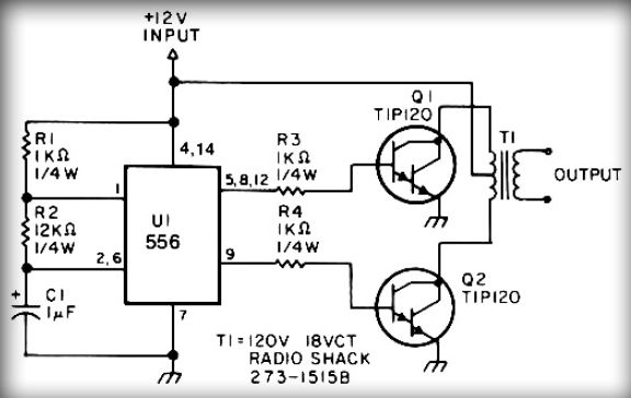simple inverter circuit with ic556 timer chip  u0432 2019  u0433