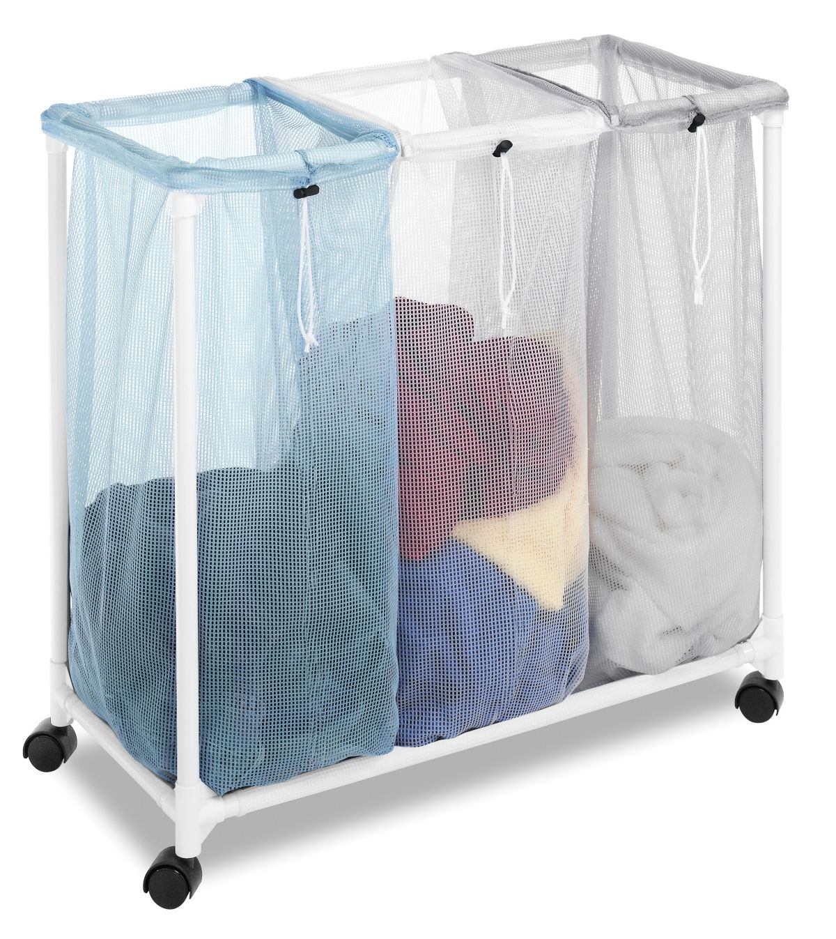 Whitmor Triple Laundry Sorter With Wheels Reviews Cleaning