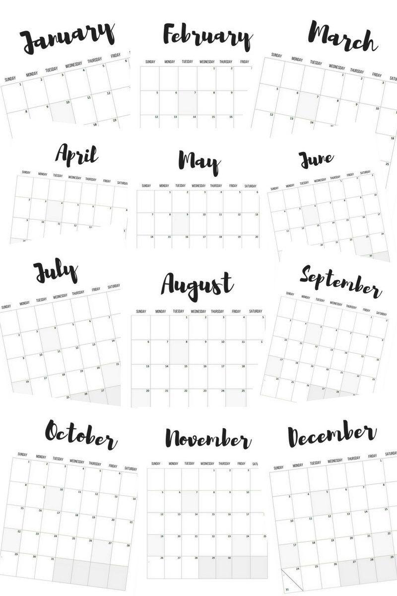 2017 Calendars FREE Printables printable Pinterest Free