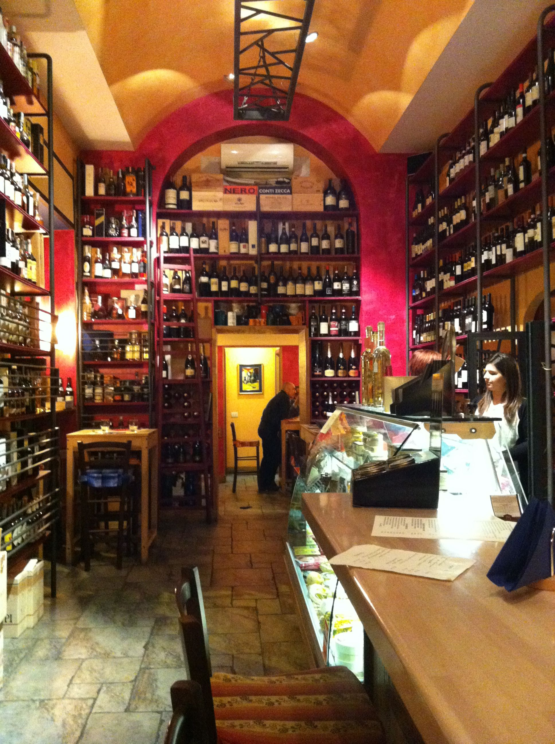 The local wine bar in Rome, very expensive wines! | Wine ...
