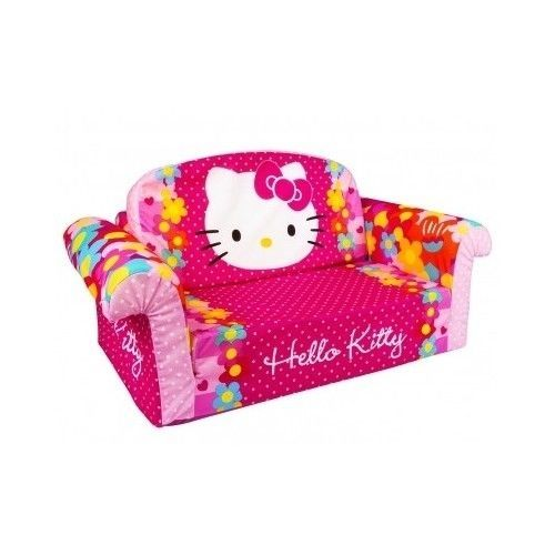 Hello Kitty Furniture Toddler Pullout Couch Kiddie Sleeper Sofa Lounger  Kids #HelloKitty