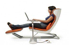ergonomic computer chair spring loaded netsurfer modern gadgets