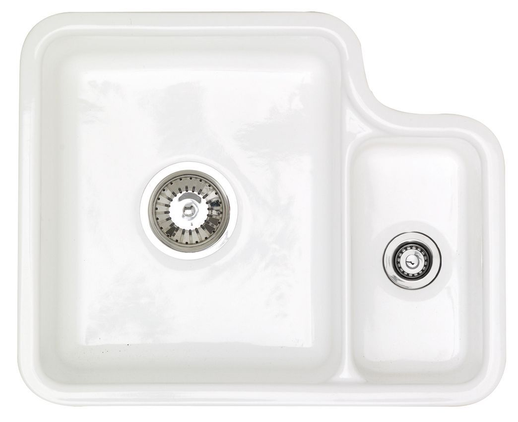 astracast lincoln 1.5 bowl white gloss ceramic sink & drainer
