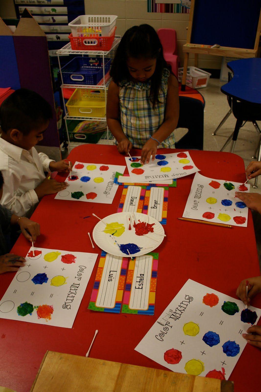 Mrs Lee S Kindergarten Color Mixing