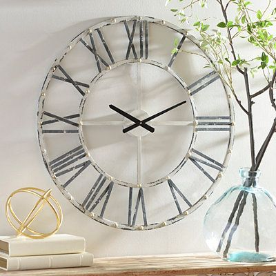 addison cream open face clock, 30 in | open face, clocks and