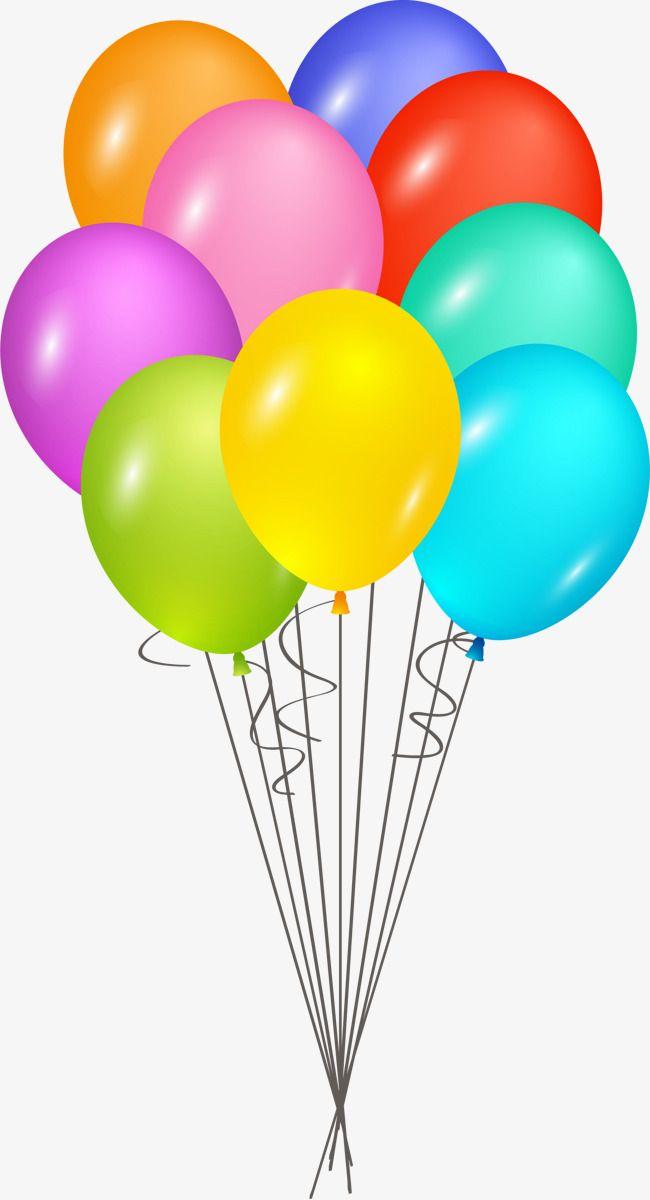 Color Cartoon Happy Birthday Balloon Cartoon Clipart Hand