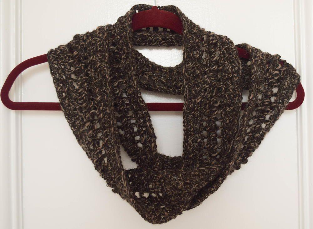Softest Alpaca Crochet Infinity Scarf