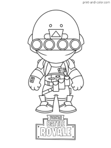 Fortnite Coloring Pages Print And Color Com Coloring Pages Coloring Pages To Print Chibi Sketch