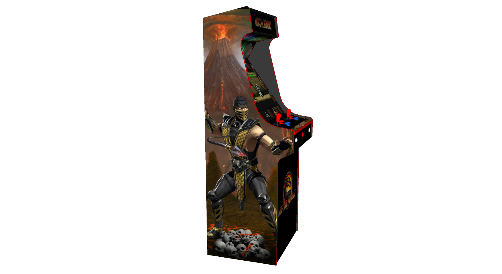 Mortal Kombat Upright Arcade Machine with 645 Games