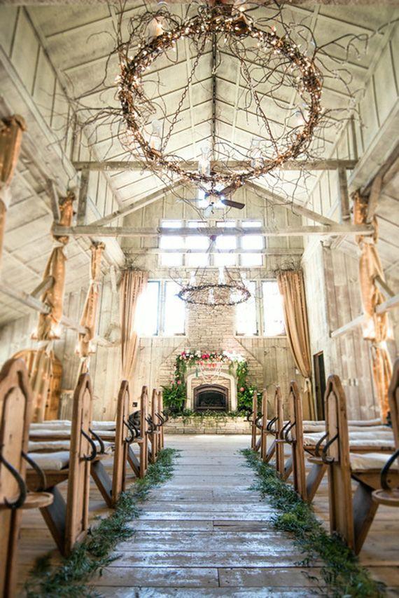 Rustic Wedding Ceremony Ideas Deerpearlflowers 35 Dreamy Indoor Backdrops