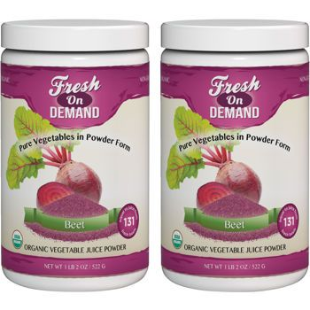 Fresh On Demand Usda Organic Beet Juice Powder 2 Pack Beet Juice