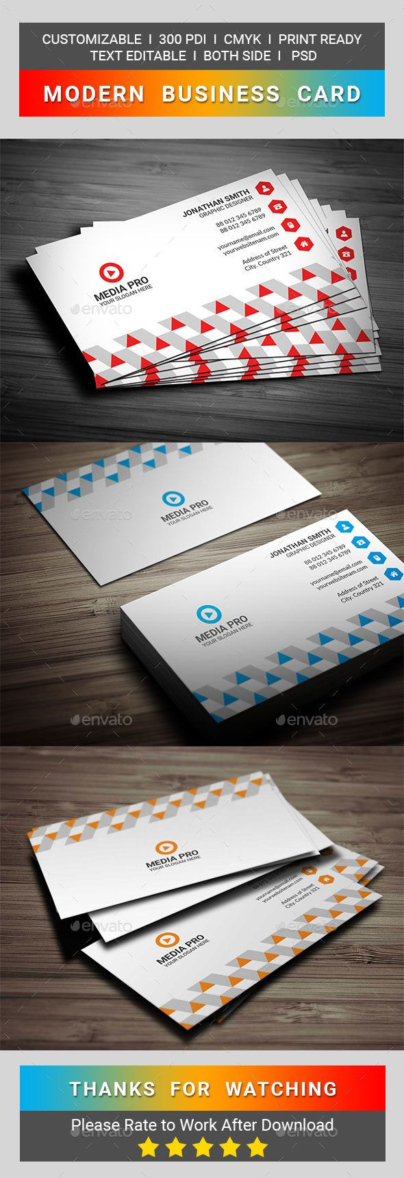Modern business card business cards business and template modern business card reheart Images