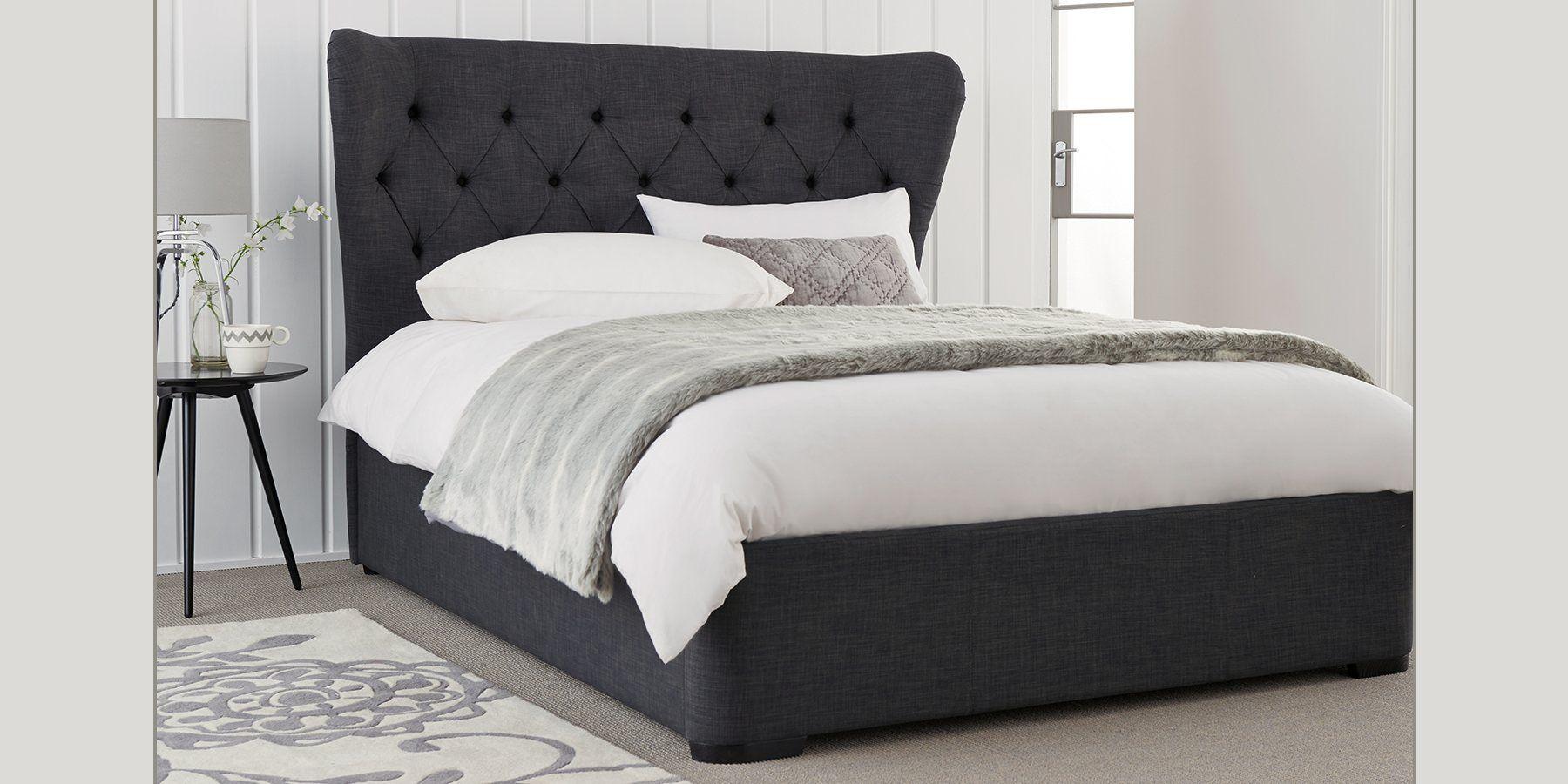 Buy Elise Double Bed Classic Velvet Light Natural from the Next UK ...