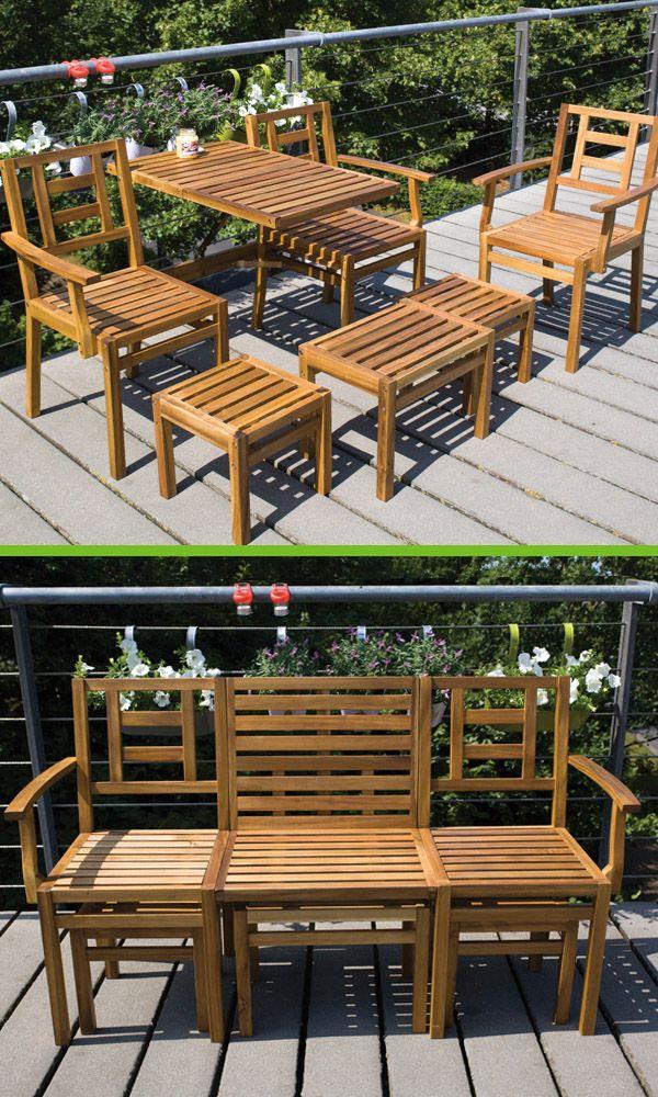 Superb Mybalconia Bl056 Wooden Convertible Bench Set 5 Pcs This Creativecarmelina Interior Chair Design Creativecarmelinacom