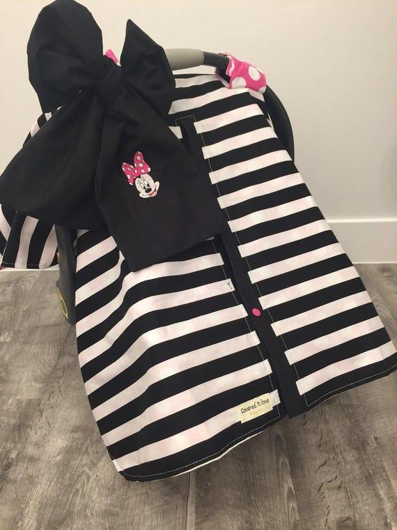 Minnie Mouse Car Seat Canopy , Car Seat Cover , Carseat