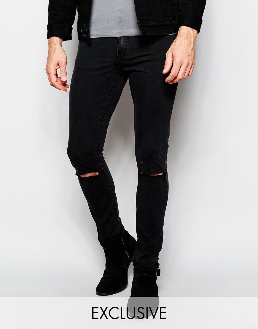 Image 1 of Cheap Monday Exclusive Jeans Tight Skinny Fit Very ...