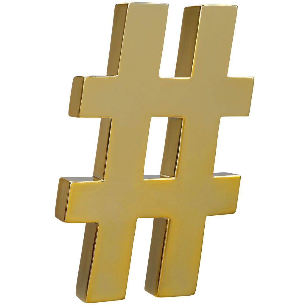 Purchase the Gold Hashtag Wall Decor Accent By Ashland® at Michaels ...