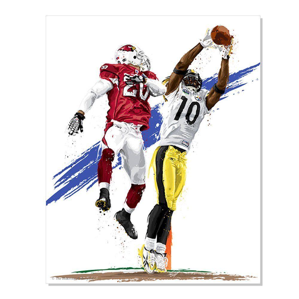 Wall stickers wilko - Pittsburgh Steelers Super Bowl Mvp Santonio Holmes By David E Wilkinson