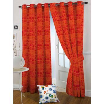 The Kids Decor Orange Tune Door Curtain Curtains Quality