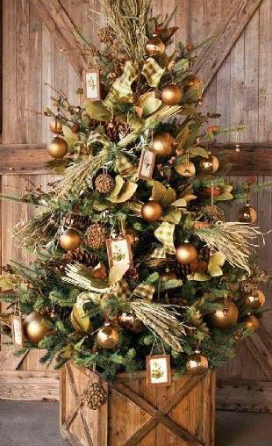Η ρουστίκ διακόσμηση στα δέντρα είναι must! Christmas