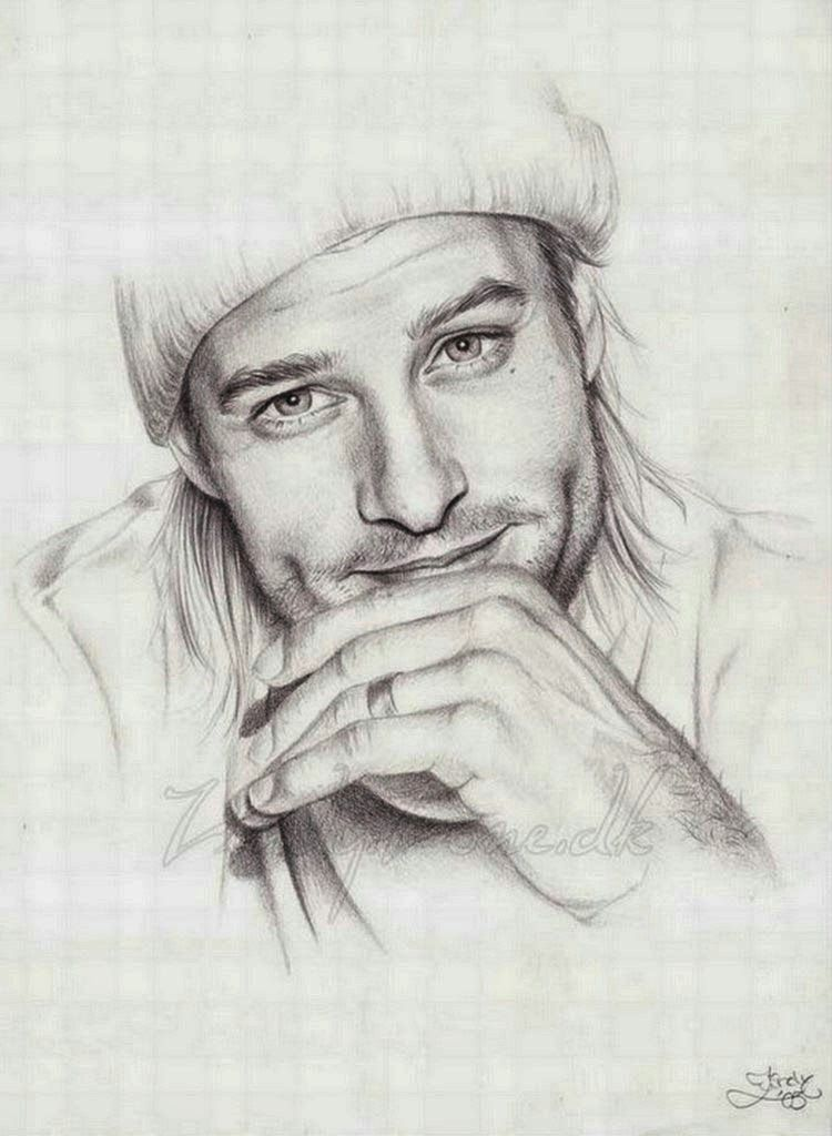 Dibujos De Rostros De Hombres A Lapiz Varoniles Dibujar