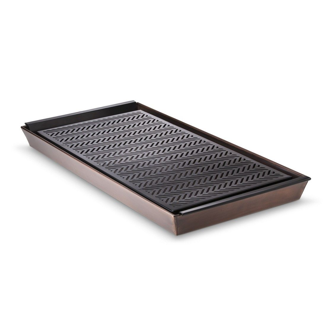 Smith & Hawken Copper Boot Tray With Liner Home
