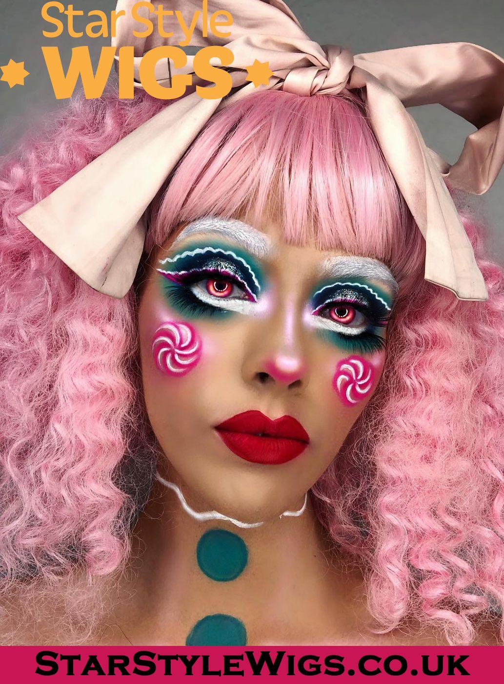 Flamingo Fizz Wig in 2020 Christmas makeup look, Afro