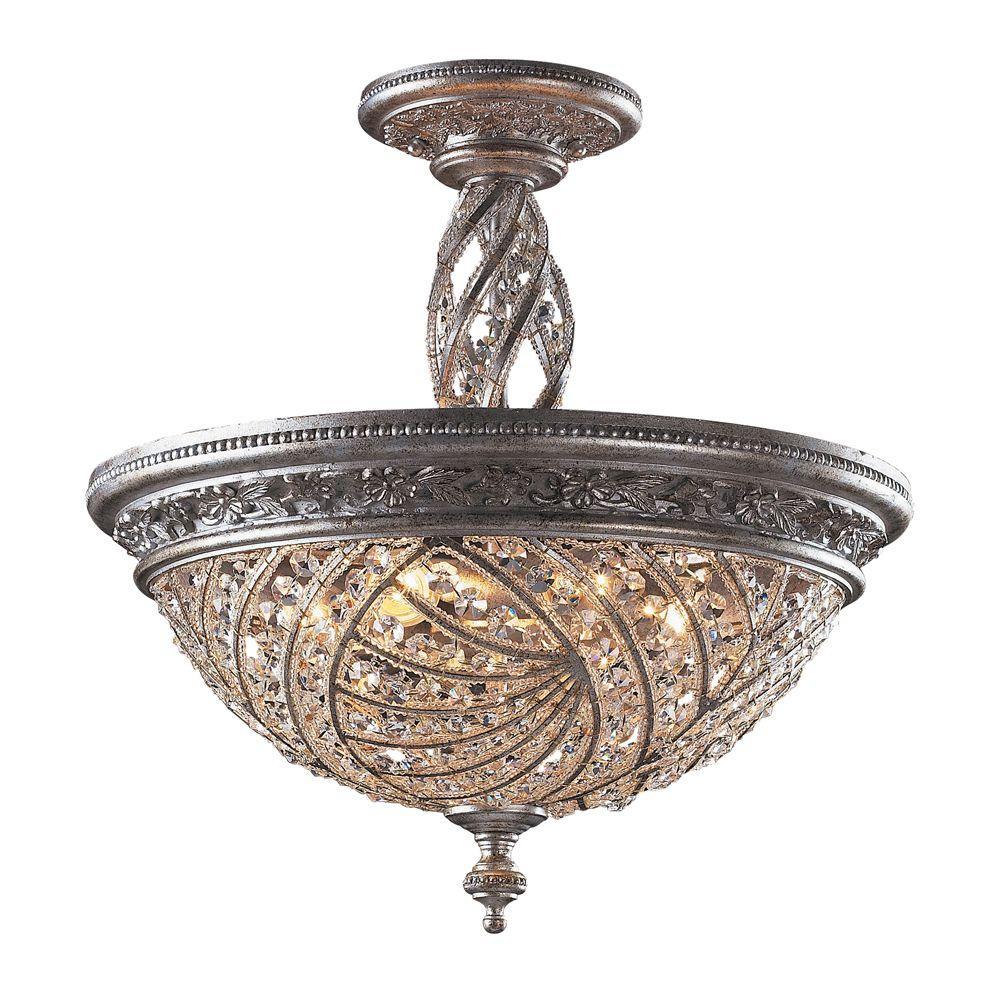 wholesale dealer b41e1 f0b3f Titan Lighting Renaissance 6-Light Sunset Silver Ceiling ...