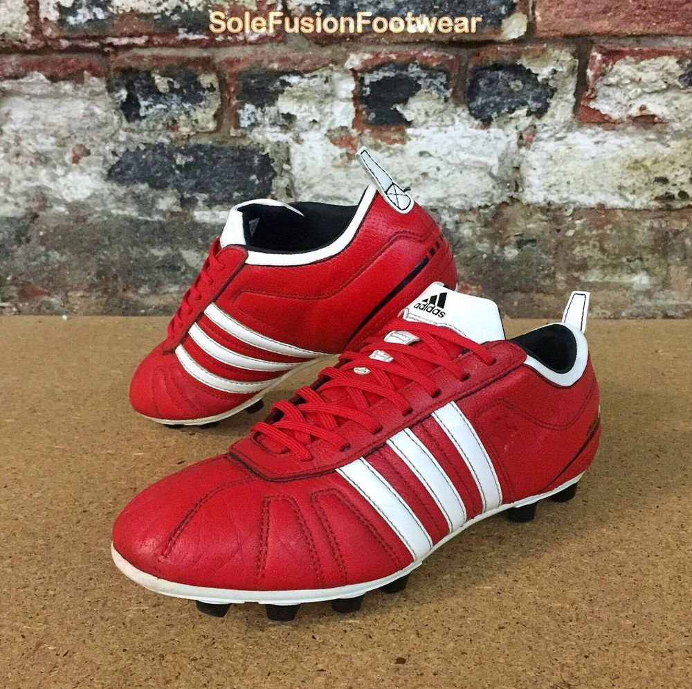 size 40 a7dfc 94dfc adidas AdiNova IV Mens Football Boots Red White sz 7 Soccer Cleats US 7.5  40 2 3   eBay