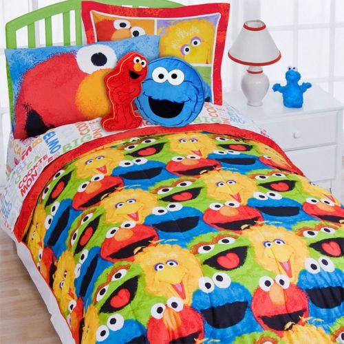 7pc Sesame Street Full Bedding Set Elmo Cookie Monster
