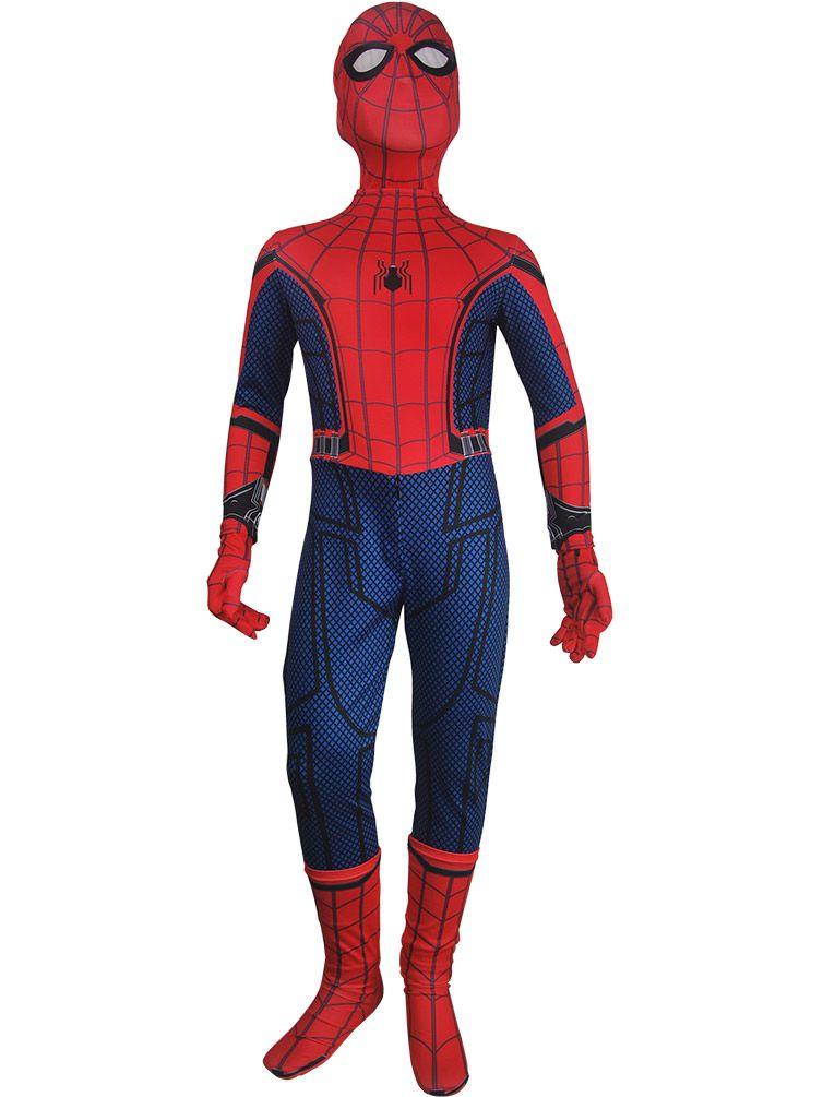 SpiderMan Homecoming Cosplay Zentai Spandex Fullbody Jumpsuits Costume Superhero