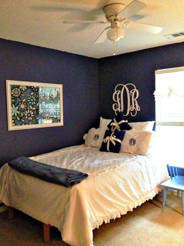 Room makeover: Pre-teen/Girl #makeover #transformation #blue #Vaspar #Lowes #monogram #shabbychic