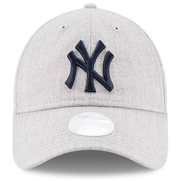 Women s New York Yankees New Era Heathered Gray Preferred Pick 9TWENTY...  ( 22) ❤ liked on Polyvore featuring accessories 5a3fff52f75