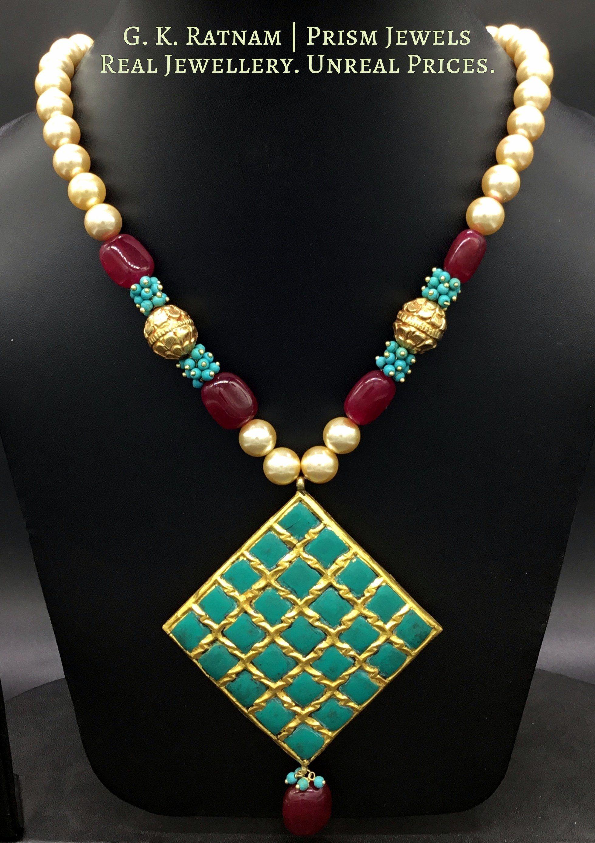 Pendant set jewellery pinterest uncut diamond indian