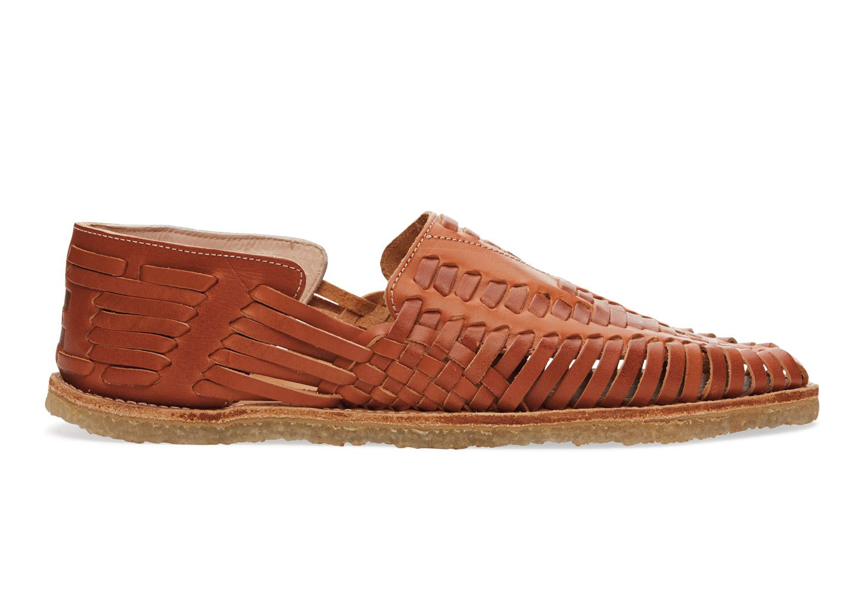 Cognac Full Grain Leather Men's Huaraches   Leather shoes ...