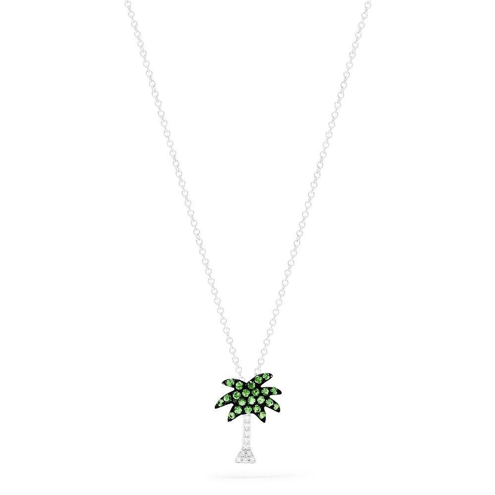 Effy novelty 14k white gold tsavorite diamond palm tree pendant effy novelty 14k white gold tsavorite diamond palm tree pendant 029 tcw aloadofball Images
