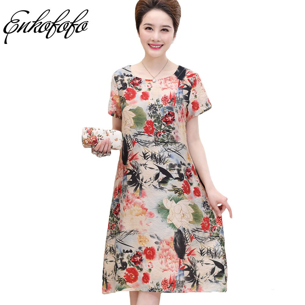 new summer fashion floral printed long dress women casual o