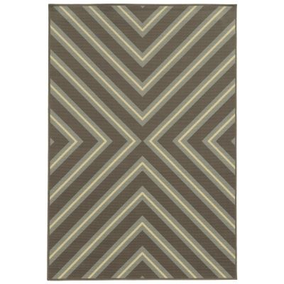 Riviera Brown Fresco Outdoor Rug By Sphinx By Oriental Weavers On Outdoor Rugs Com 7 10 X 10 10 249 Or 8 X 13 For Coastal Area Rugs Area Rugs Outdoor Rugs