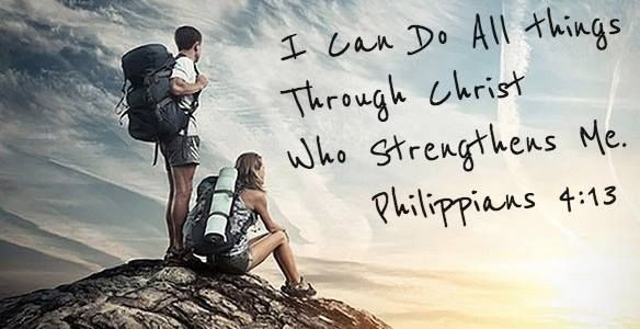 Philippians 4:13 (ESV)  13 I can do all things through him who strengthens me.