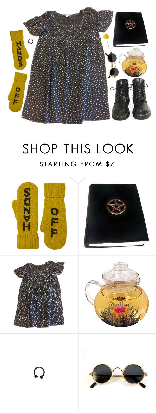 """hands off"" by grimess ❤ liked on Polyvore featuring Monki, Maje, Dr. Martens, women's clothing, women's fashion, women, female, woman, misses and juniors"